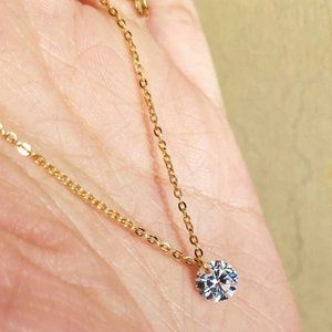 925 Sterling Silver Pendant Chain Necklace , F367